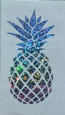 Pineapple car decal tumbler decal 3.5 h. Beach, summer life. Silver Holographic.