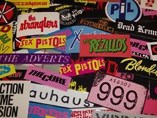 12    70s Punk and New Wave Band Stickers Sex Pistols, Clash, More Choice