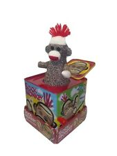 Schylling Sock Monkey Jack in the Box Classic Toy Vintage Style Retro Musical