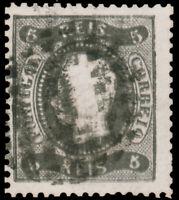 Portugal  #25 Used CV$42.50 1867 5r BLACK