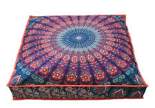 "35"" Bohemian Large Star Mandala Square Floor Pillow Case Indian Cushion Cover"