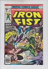 Iron Fist #13 (1st Iron Fist title 1975) VF 8.0