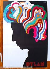 BOB DYLAN POSTER BY MILTON GLASER 1966 ORIGINAL ART PRINT EX+ RARE