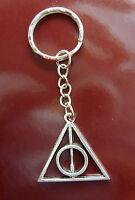 A Silver KEYRING  Harry Potter The Deathly Hallows, Key Chain Handbag, Bag Charm