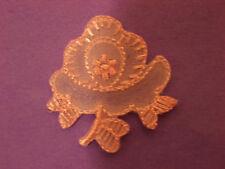 """Light Pink Flower~1.5""""~ Embroidery Applique Patch Emblem Lot (36 Dozen)"""