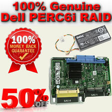 Dell Poweredge 1950/2950 PERC 6i SAS Raid Card WY335 0WY335 Battery 0NU209 256MB