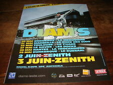 DIAM'S - PUBLICITE DATES - S'ECLATE EN CONCERT !!!!!!!!