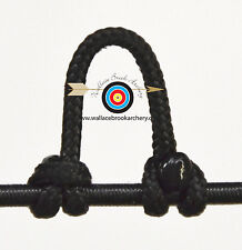 Black Archery Release Bow String Nock D Loop Bowstring BCY #24
