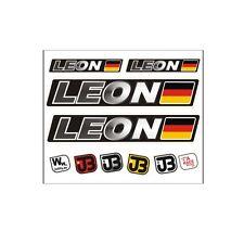 """Leon"" Auto Fahrrad Motorrad Kart Helm Fahrername Aufkleber Sticker Flagge"