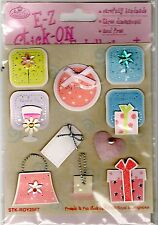 E-Z Click-On Craftwork Embellishments - acid free - SEALED PACKET