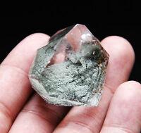 "36g Green Ghost "" Pyramid ""! Natural Quartz Crystal Point Original Specimen"
