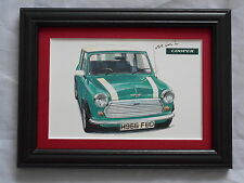 Mini Cooper Mainstream Stunning Framed & Mounted Postcard **Offers**