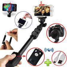 Strong Monopod Selfie Stick + Bluetooth Wireless Remote iPhone Samsung Sony HTC