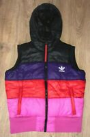 Adidas Originals womens multicolor puffer vest gilet sleeveless jacket size 42