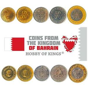 SET OF 5 COINS FROM BAHRAIN. 5, 10, 25, 50, 100 FILS. 2009-2019