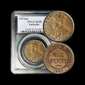 1927 (m) Australia Penny - PCGS XF45 (Choice XF)