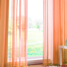 Pair (2 Panels) Of Rainbow Voile Slot Top Panels -Top Quality Net Voile Curtain