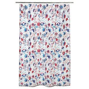IKEA KRATTEN Shower Curtain White/Multicolour 180x180cm