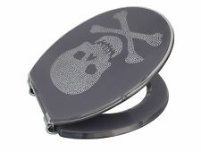 Loo with a View - Skull and Crossbones Poly Resin Decor Toilet Seat, EU102
