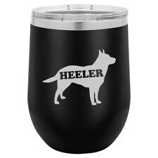 Stemless Wine Tumbler Coffee Travel Mug Glass Australian Cattle Dog Heeler