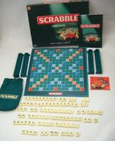 Original 1999 Scrabble Board Game - Complete Full Set of 100 GREEN Tiles VGC