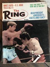 THE RING BOXING MAGAZINE AUGUST 1971 NINO KAYO