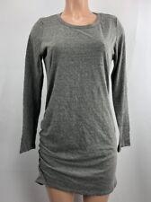Women's Nytt Long Sleeve Mini Dress Heathered Gray Cotton Blend Casual XL NEW