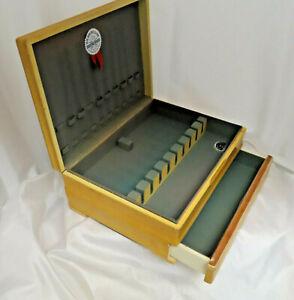 Wood Tarnish Resistant Silverware Flatware Storage Chest Box Wooden Drawer 94