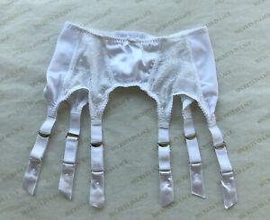 6 Strap Intrigue Garter Belt Size S White W/ Metal Garters By Secrets In Lace