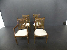 DOLLHOUSE DINING ROOM CHAIRS- BESPAQ WELTON- SET OF 4