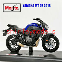 MAISTO 1:18 2018 Yamaha MT-07 MOTORCYCLE BIKE DIECAST MODEL TOY NEW IN BOX