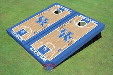 University Of Kentucky Uk Logo Matching Basketball Court Custom Cornhole Board
