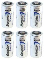 6 NEW Energizer 3V Lithium CR123A Batteries for Camera, Flashlight etc EXP 2030
