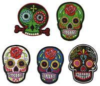 Ecusson patche Mexican Tattoo skull écussons patches au choix patch DIY brodé