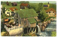 Linen Postcard - Hamburg Pennsylvania, Roadside America Miniature Village - 1951