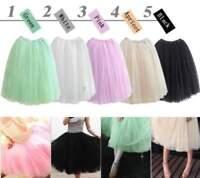 Fashion 5 layers Women Girl Princess Tulle Dress Bouffant Skirt Fairy Style