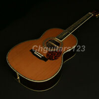 Handmade Full Solid Limited Edition Acoustic Guitar Solid Red Spruce Top