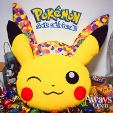 "Original Pokemon Center Pikachu Face Plush Pillow Cushion Toy Poke Doll 15"" Gift"