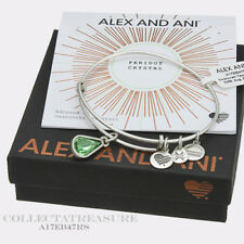 Authentic Alex and Ani Teardrop August Birthstone Rafaelian Silver Bangle