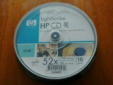 10 Stück Lightscribe CD Rohlinge von HP ? 52x ? 700 MB/80 min ? CD-R ? OVP