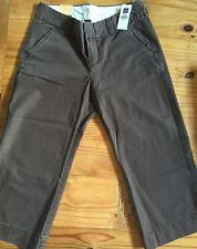 NWT GAP Brown Ladies Womens Favorite CHINO Cropped Pants Size 6