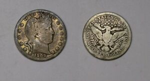 1909-P SILVER BARBER QUARTER GOOD TO VERY GOOD CONSITION #501-16