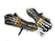 Medieval Knight Gloves Functional Steel Gauntlet Sca Armour Larp Gauntlets Xmas