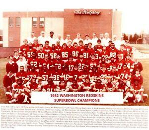1982 WASHINGTON REDSKINS 8X10 TEAM PHOTO FOOTBALL NFL PICTURE SB CHAMPS