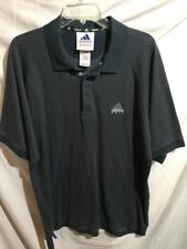 Adidas Men's Blue Cotton Blend Polo Golf Shirt Size Sz Large Lrg L
