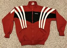 Men's ADIDAS Track Jacket Full Zip Vintage Rare Red White Black 90s 3 Stripes SM