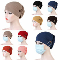 Ladies Cancer Hat Chemo Cap Womens Muslim Hair Loss Turban Head Wrap Cover Hats