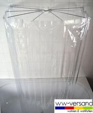 Ridder SET Duschspinne + Duschvorhang VINYL - klar - durchsichtig -