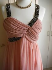 * NEW * LIPSY PARTY  DRESS SIZE  10 -12  BLUSH PINK KNEE LENGTH PERFECT .