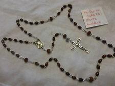 authentique chapelet d'Ambert 59 grains perle en corozo monté indécrochable